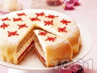 Коледна марципанова торта